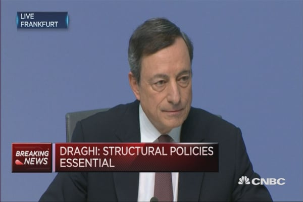 We have not talked about helicopter money: ECB