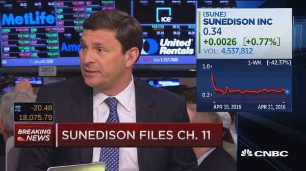 SunEdison files Ch. 11