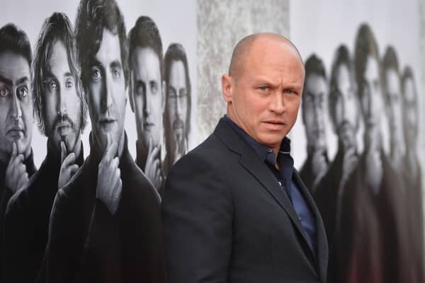 Creator/Executive Producer Mike Judge attends the premiere of HBO's 'Silicon Valley' at Paramount Studios on April 3, 2014, in Hollywood, California.