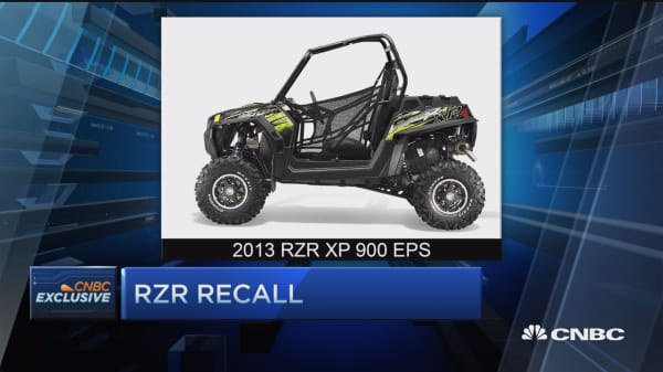 Polaris recalls RZR