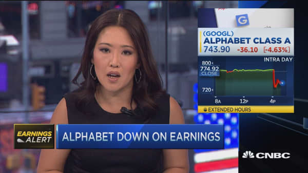 Alphabet down after earnings