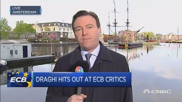 Draghi defends ECB's political independence
