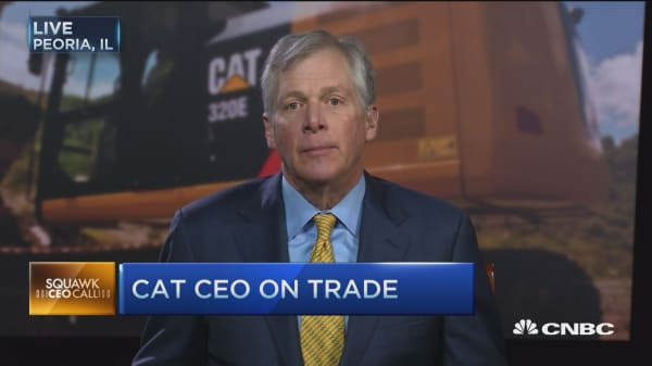 CAT misses on EPS, beats on revenues: CEO