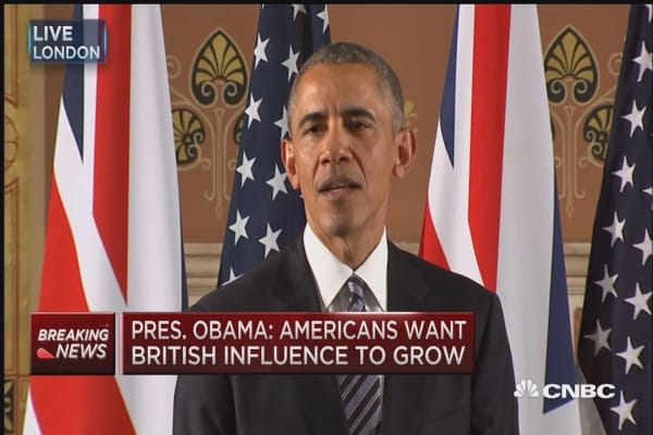 Obama: UK at its best as part of EU