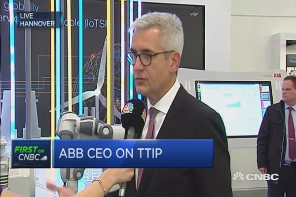 ABB is a supporter of TTIP: CEO