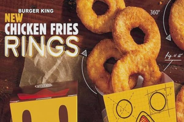 Burger King launches chicken fries rings
