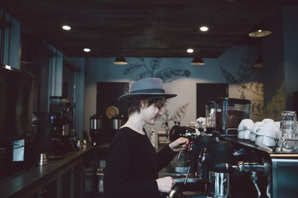 Barista at Birch Coffee Shop in Lower Manhattan