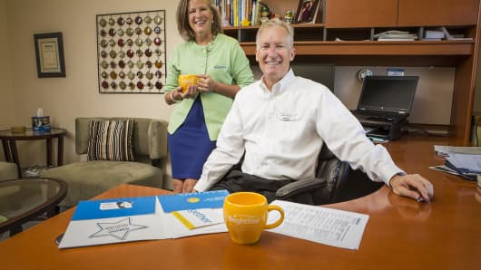 Susan Rather and Jeff Tews are co-owners of six BrightStar franchises that collectively bring in more than $11 million in annual revenue.