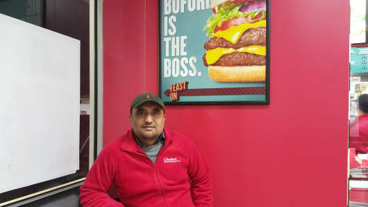 Paramjit Josan owns four Checkers restaurants — in Queens, Brooklyn, New York City and Long Island.