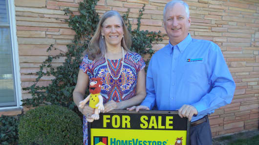 "Karen and Richard McLain of HomeVestors buy old or rundown homes ""as is,"" then renovate them for resale or rent."