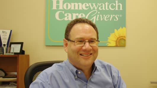 Larry Aronson zeroed in on Homewatch CareGivers, realizing an aging baby boomer population would result in a large demand for in-home senior care.