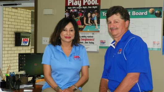 Preston Granger and his wife, Lisa, left their corporate jobs in 1990 to do what they love most: play pool.