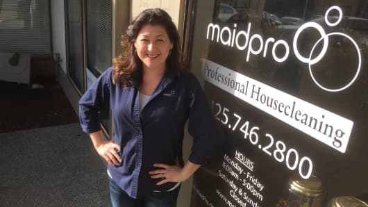 Working with the company's founders as manager and dispatcher for their Boston location readied Maxine Kenefsky to open a MaidPro location of her own.