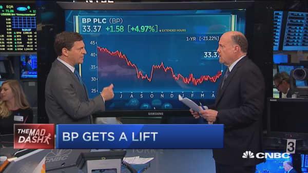 Cramer's Mad Dash: BP gets a lift