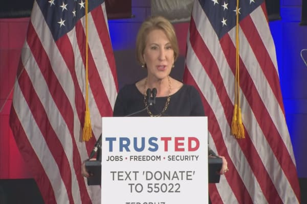 Carly Fiorina could become Ted Cruz's vice-presidential running mate