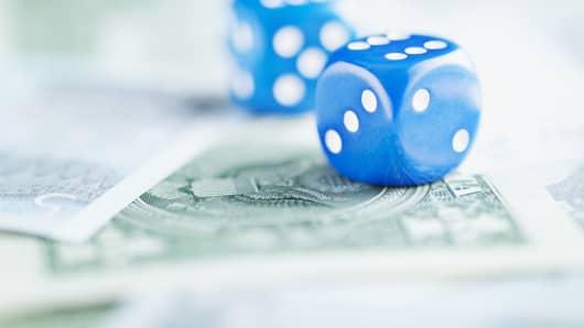 gambling with money