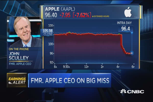 Sculley: I'm a huge Tim Cook fan