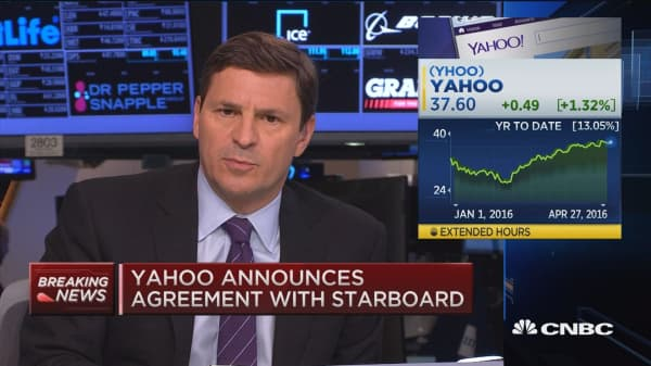 Yahoo announces agreement with Starboard