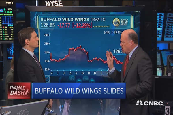 Cramer's Mad Dash: Buffalo Wild Wings 'a stunner'