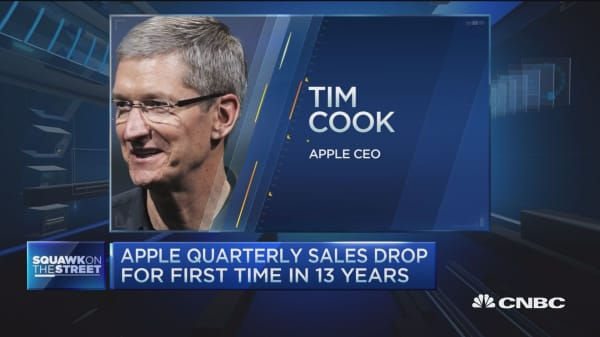 Tim Cook sounds upbeat, confident