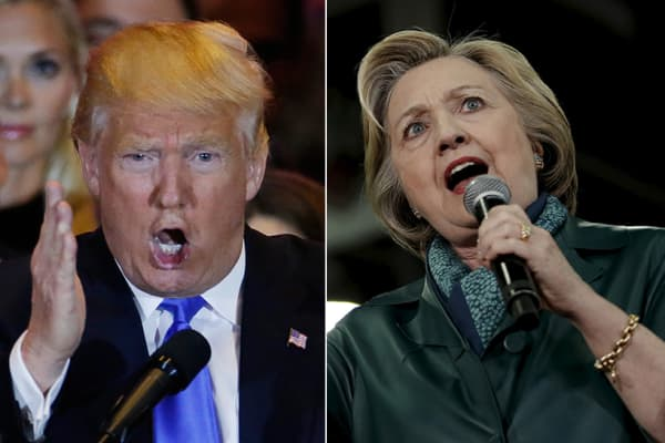 Donald Trump and Hillary Clinton, presidential candidates