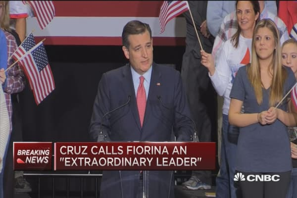 Ted Cruz introduces Carly Fiorina as VP pick