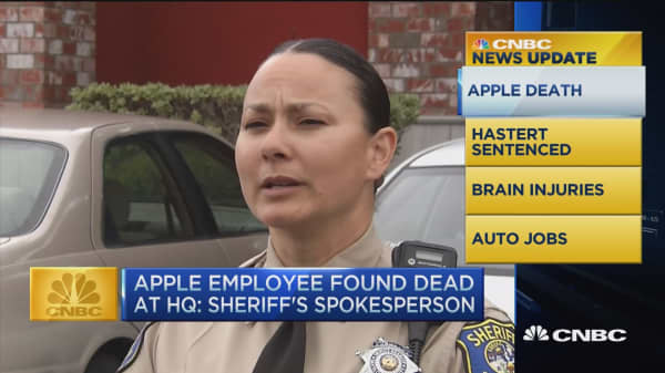 CNBC update: Apple employee found dead at headquarters