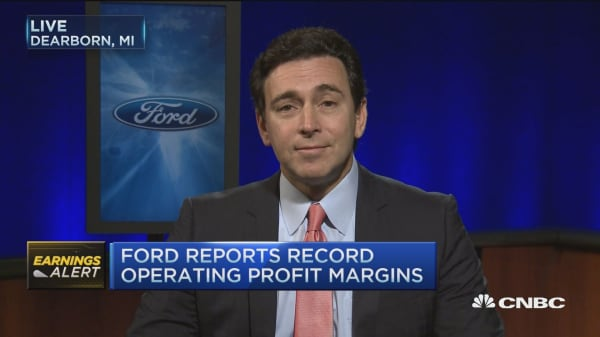 Ford CEO: On track for record year