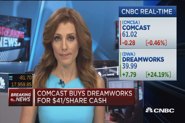 3 growth areas in Comcast-DreamWorks merger