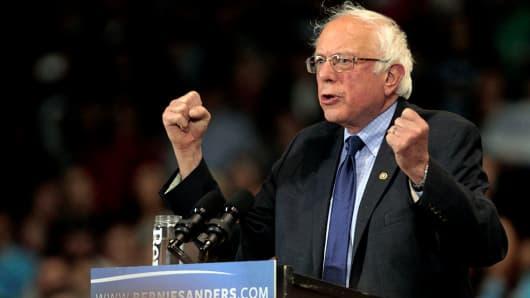 Democratic presidential candidate Bernie Sanders