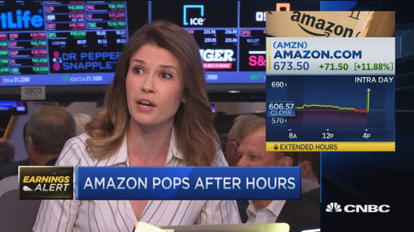 Amazon top and bottom line beat