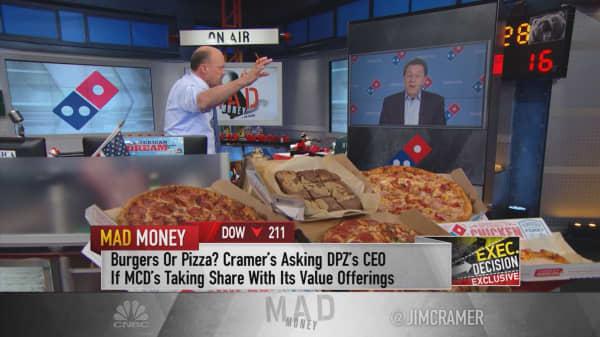 Cramer: This pizza giant headed higher but hitting speedbumps