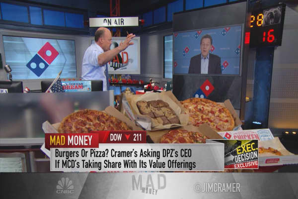 Cramer: This pizza giant headed higher but hitting speedbumps