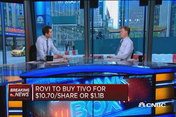 Rovi to buy TiVo for $1.1B in cash and stock