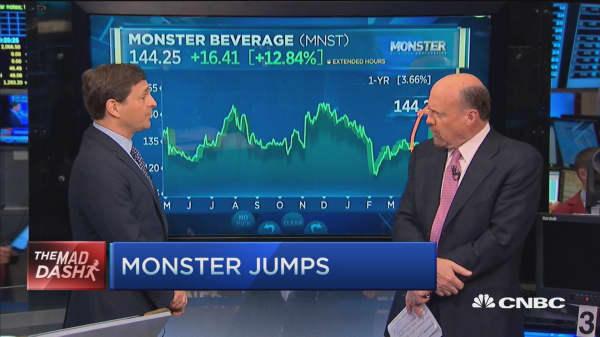 Cramer's Mad Dash: Monster jumps