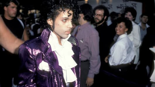 Musician Prince attending the premiere of 'Purple Rain' on July 26, 1984 at Mann Chinese Theater in Hollywood.