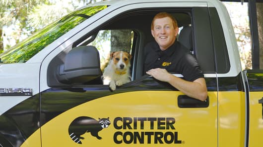 For $30,000 Caleb Stroh purchased his Critter Control franchise, which today earns $175,000 in annual revenues.