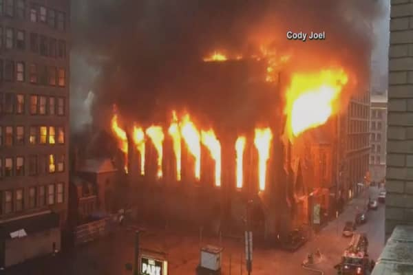 Fire torches historic New York City church
