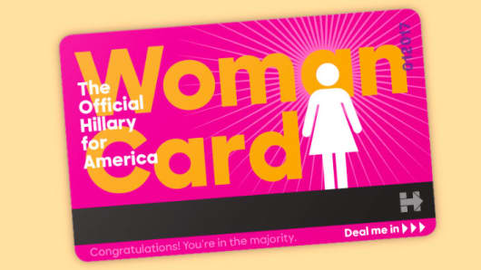 Woman's Card Hillary Clinton