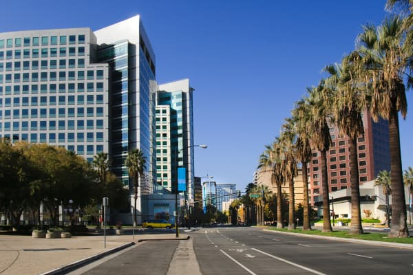 The capital of Silicon Valley: downtown San Jose, California