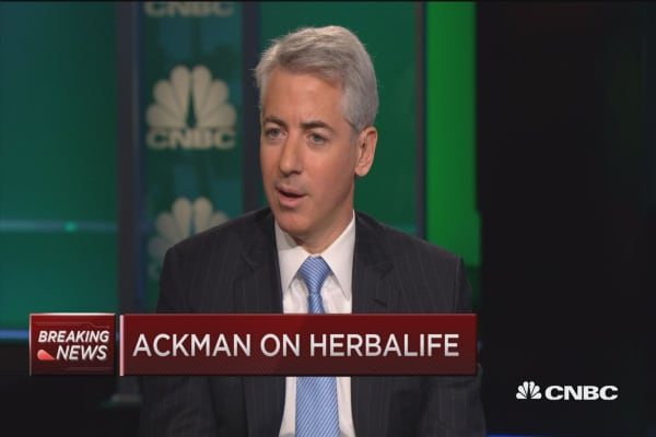 My most important contribution: Ackman on Herbalife