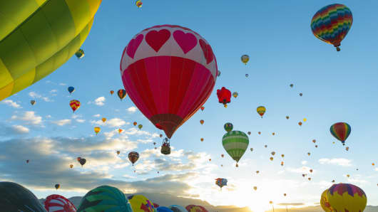 Hot air balloon festival in Albuquerque