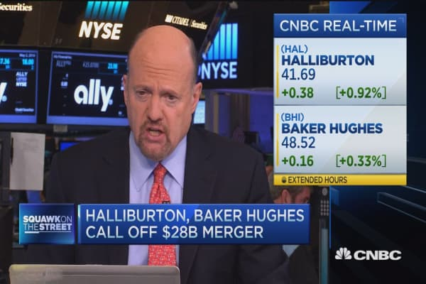 Cramer: Scrapped Halliburton merger 'dumbest deal ever'