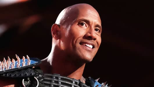 Host Dwayne Johnson speaks onstage during the 2016 MTV Movie Awards at Warner Bros. Studios on April 9, 2016 in Burbank, California.