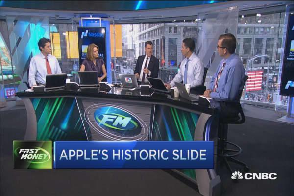 Apple's historic slide
