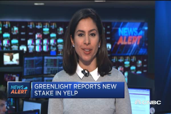 Greenlight reports new stake in Yelp