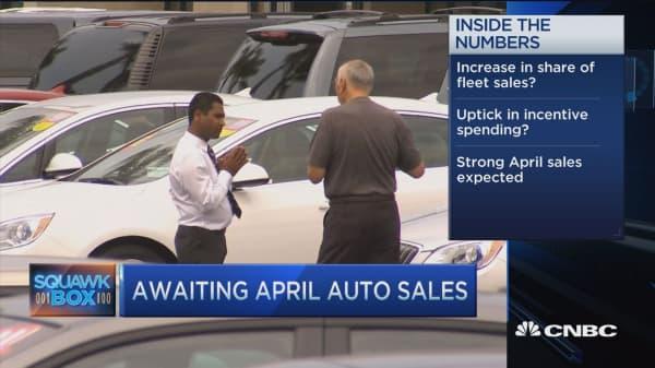 Ahead of April autos sales