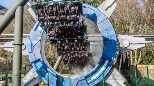 "Alton Towers new ""Galactica"" ride 