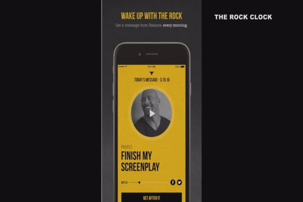 Dwayne 'The Rock' Johnson wants to help you get out of bed