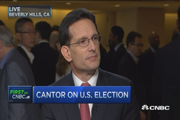 Eric Cantor: Donald Trump has changed the rules of the game